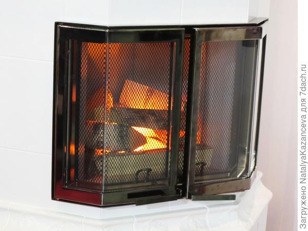 Пламя этого камина завораживало)) Сразу в воображении представился уютный загородный домик))