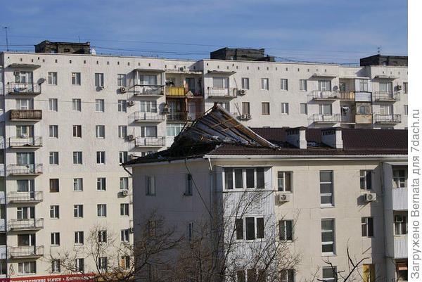 ветром поднимает крышу