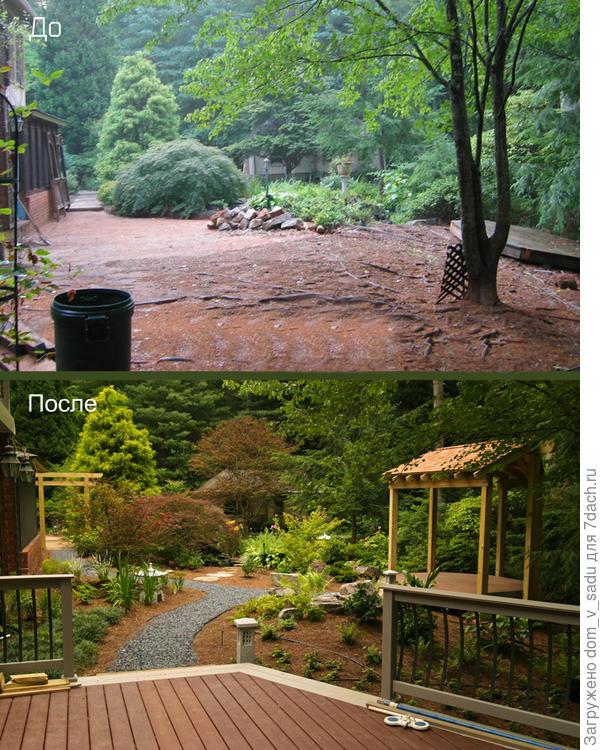 Японский сад на месте старого двора
