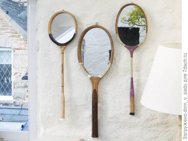 Зеркала из теннисных ракеток