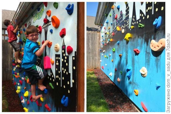 Стена для альпиниста