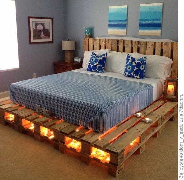 Светящаяся кровать