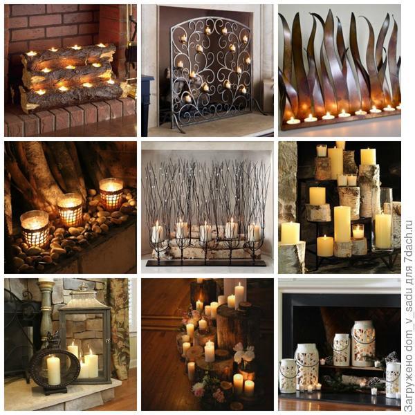 Свечи для камина