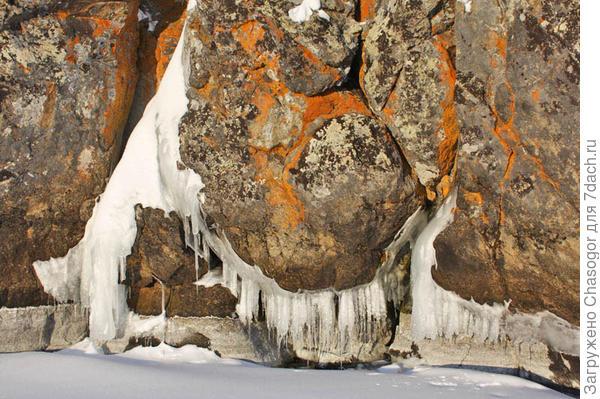 прибой соединил снег со льдом