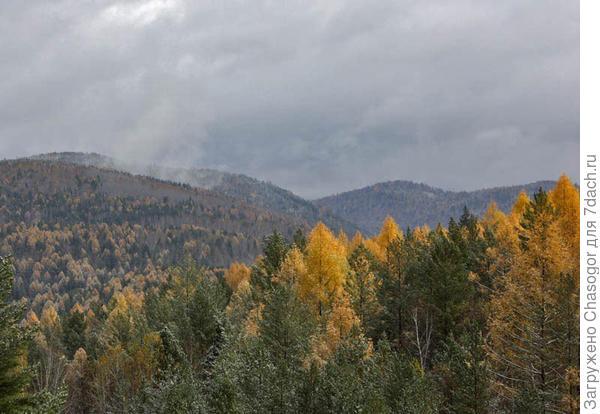 горы в октябре