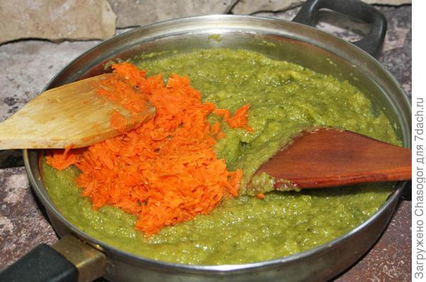 морковь и патиссоны