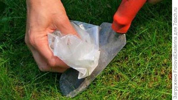 Очистка садового инструмента от грязи. Фото с сайта lifehacker.co.in