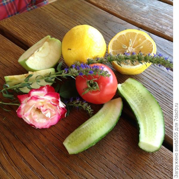 Овощи и фрукты для ухода за кожей