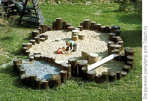 можно и песочницу и бассейн вместить и палатку, главное здесь -украшение)))