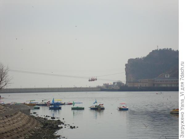 залив и канатная дорога