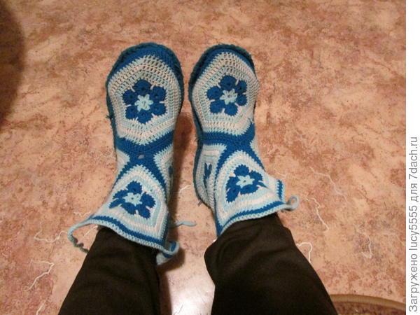 мои зимние тапочки для дома