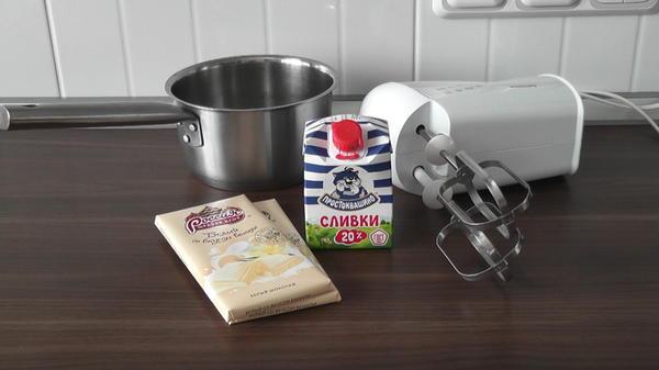 Ингредиенты для ганаша