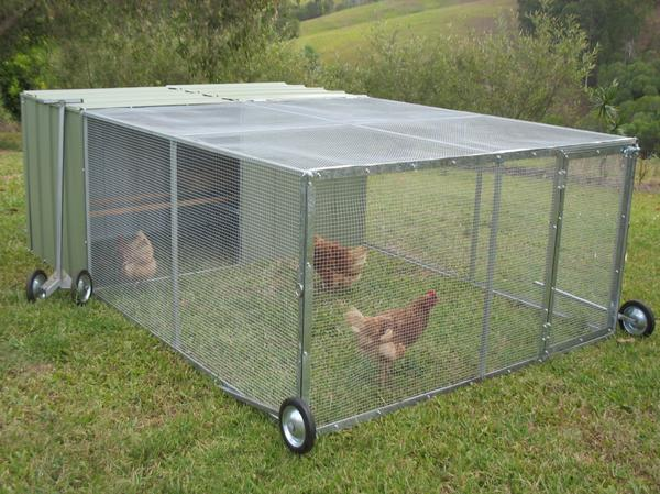 Передвижной вольер для кур. Фото сайта zawazy.ml