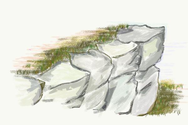 Схема альпийской горки Утёс