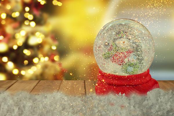 Новогодний снежный шар