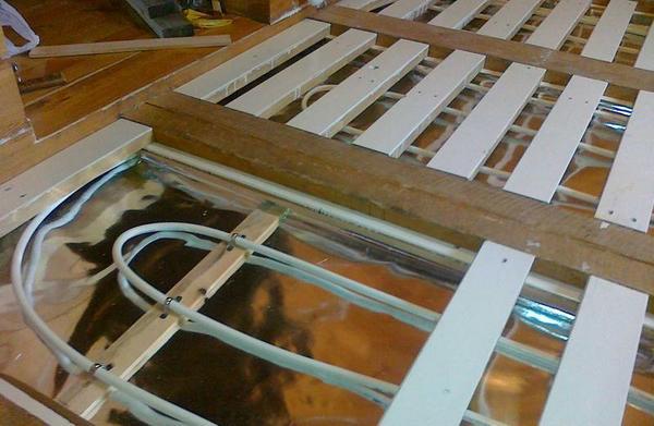 Водяные теплые полы в деревянном доме видео