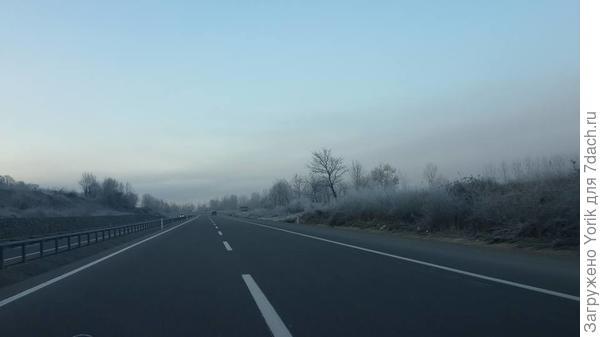 А вчера дорога утром выглядела так