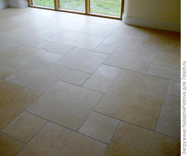 Полы из известняка. Фото с сайта http://www.tilingcontractor-northdevon.co.uk/