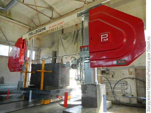 Штрипсовый станок для распиловки блоков. Фото с сайта http://nensy.ru/