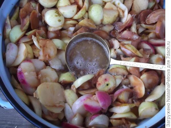 Перемешивание яблочного сусла