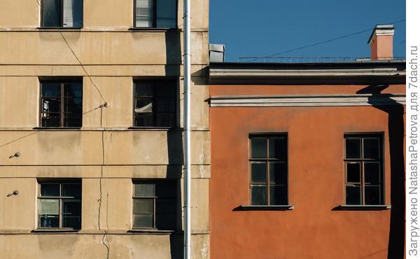 Дома в центральном районе Санкт-Петербурга