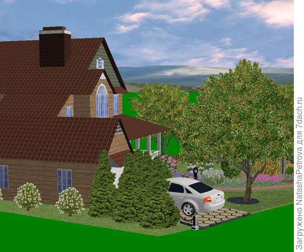 3D вид в программе Наш сад Рубин