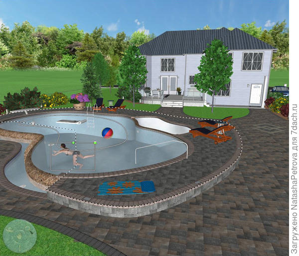 3D вид в Realtime Landscaping Architect.