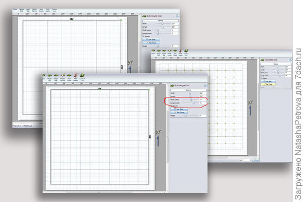 Построение сетки точек для вертикальной планировки