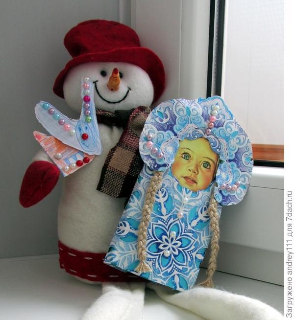 Наша Аленка-Снегурочка нашла себе дружка.