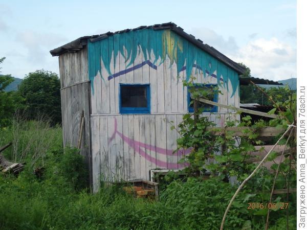 2. преобразившийся душевой домик