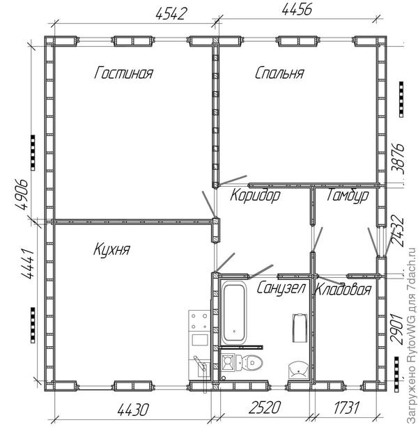 план комнат
