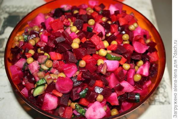 винегрет из собственных овощей