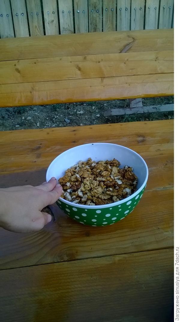 Грецкие орехи, долго чистила