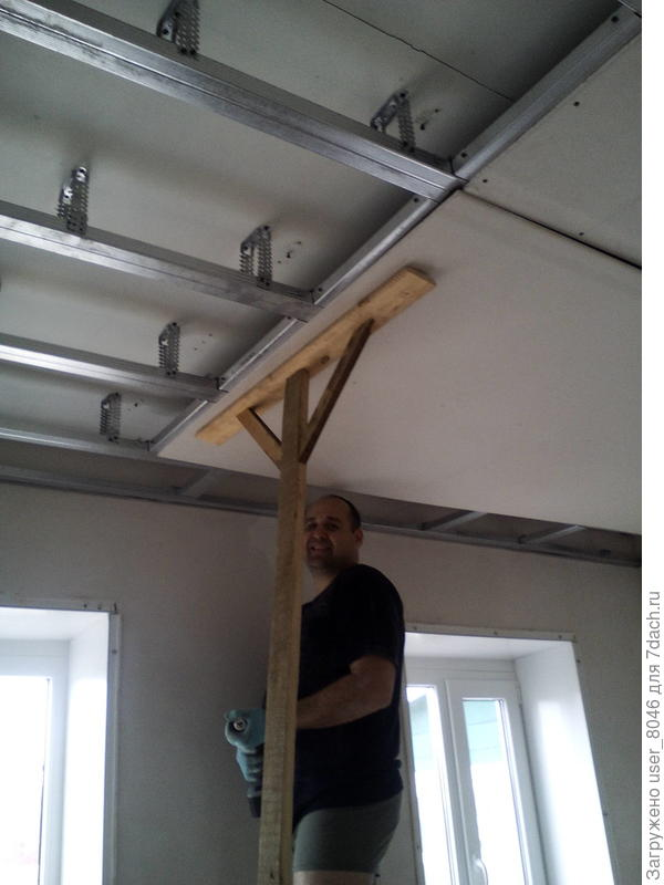 делаем потолки