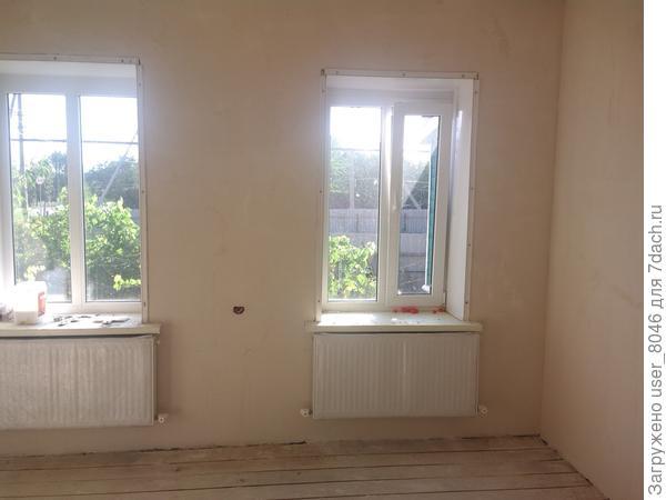 в большом поменяли проводку, сделали полы, стены, отопление.Поменяли окна.