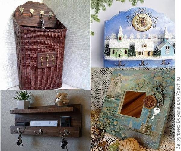Ключница-корзина, часы, зеркальце. Фото с сайта https://ru.pinterest.com/