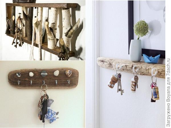 Самодельные ключницы. Фото с сайта https://ru.pinterest.com/