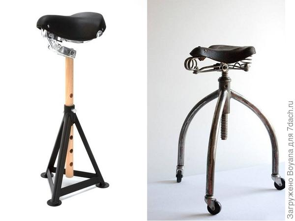 Стулики из велосипедных сидений. Фото с сайта ru.pinterest.com