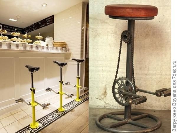 Барные стулья-тренажеры. Фото с сайта ru.pinterest.com