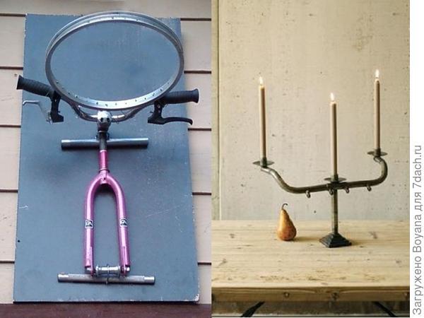 Поделки из велосипедного руля. Фото с сайта ru.pinterest.com