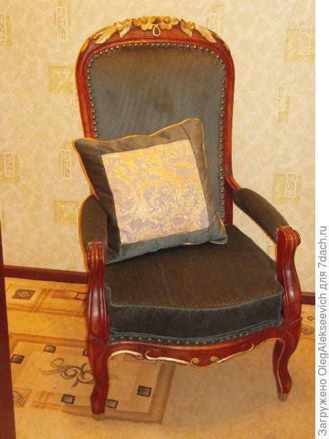 Каминное кресло после реставрации