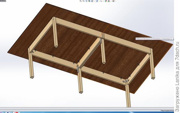"""А это стол """"снизу"""", Solid. Есть ссылка на видео."""
