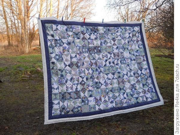 """Это одеяло """"Воздух"""" было подарено одной женщине, вышедшей на пенсию, её коллегами."""