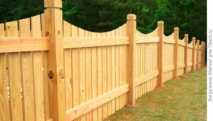 Проза жизни: деревянный забор своими руками