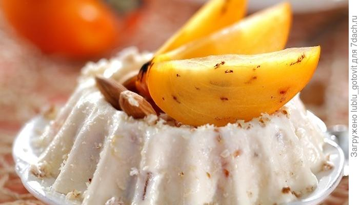 Десерт из творога и хурмы