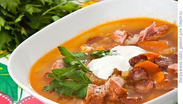 """Суп """"Зимний"""" с фасолью"""
