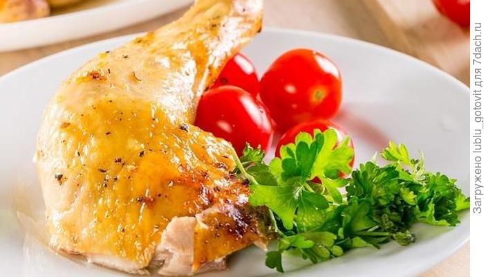 Запеченная курица с имбирем и медом