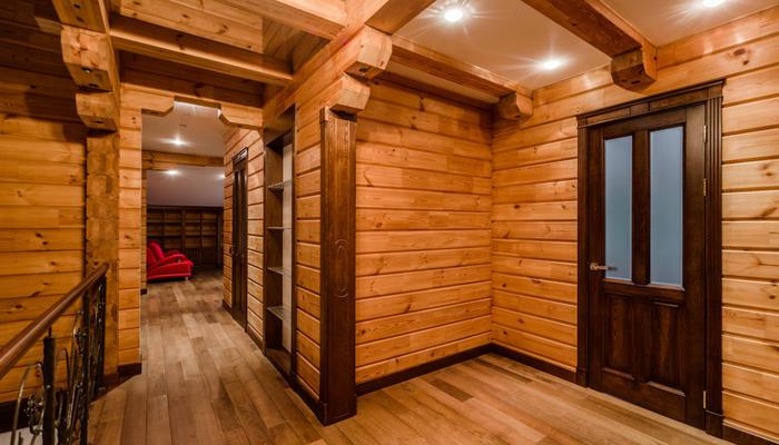 Встроенный пылесос в деревянном доме