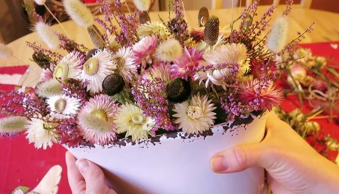 Как составить композицию из сухоцветов: мастер-класс