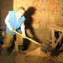 Бетонные работы в помещении бани